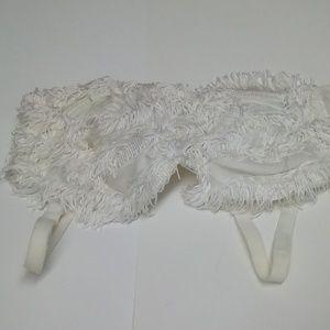 Gelmart Contempo White Tassel Underwire Bra
